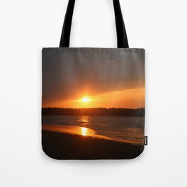 Sunset Over The Waterway Tote Bag