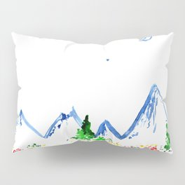 Mountains || watercolor Pillow Sham