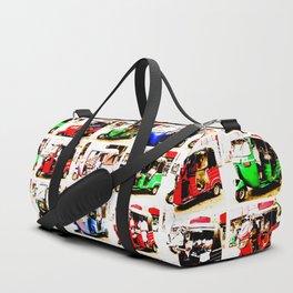 Sri Lankan Tuc Tuc Collage Duffle Bag