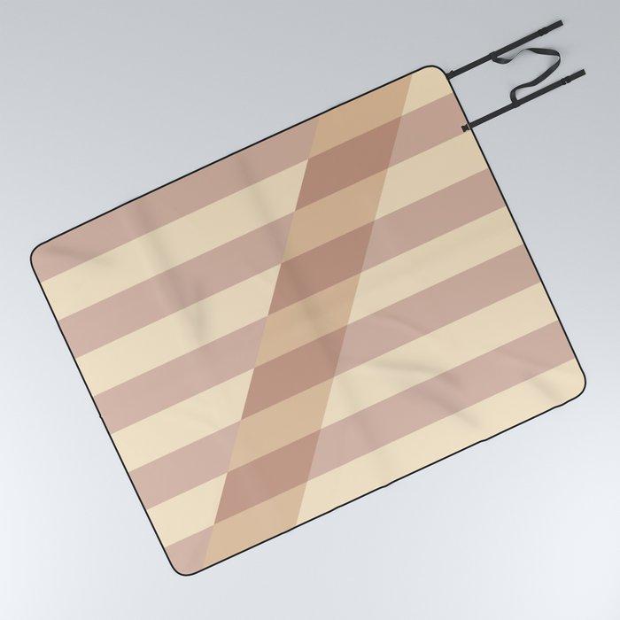 Striped Shadow 3 Picnic Blanket