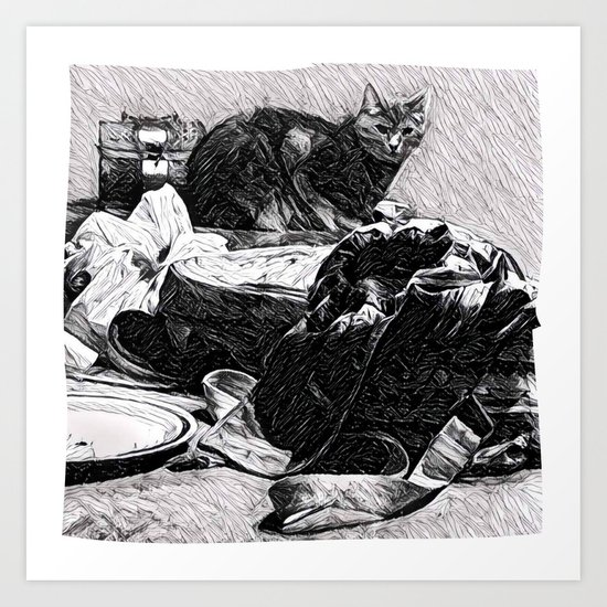 Baxter  |  The Cat That Lives With Me Art Print