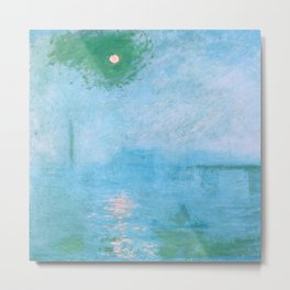 "Claude Monet ""Charing Cross Bridge. Fog on the Thames"" (1903) Metal Print"