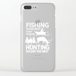 Cool Fishing And Hunting Outdoors Activity Clear iPhone Case