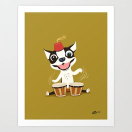 Boogie on Bongos Art Print