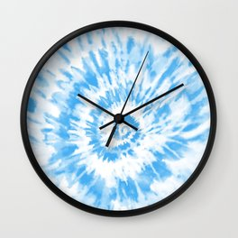 Light Ocean Blue Tie Dye Wall Clock
