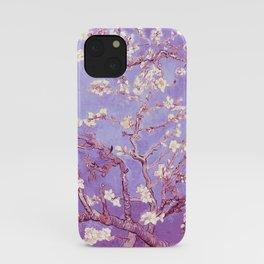 Van Gogh Almond Blossoms Orchid Purple iPhone Case