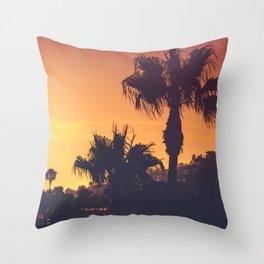 Southern California Coast at Sunset, Laguna Beach, USA Throw Pillow