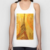 eiffel Tank Tops featuring Eiffel by 3crows