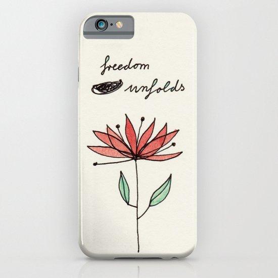 freedom unfolds iPhone & iPod Case
