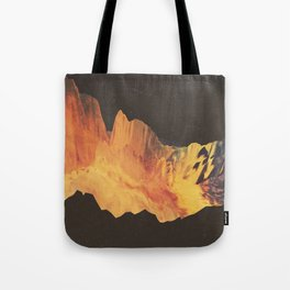 "Glitch art, ""Eruption"" 2014 Tote Bag"