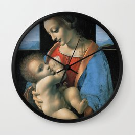 "Leonardo da Vinci ""Madona Litta"" Wall Clock"