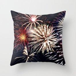 celebration fireworks Throw Pillow