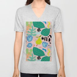Abstract Orchard Unisex V-Neck