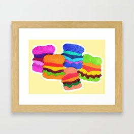 weird cheeseburgers Framed Art Print