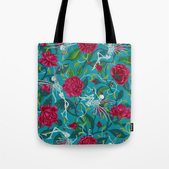 Death of Summer (carmine and blue) Tote Bag