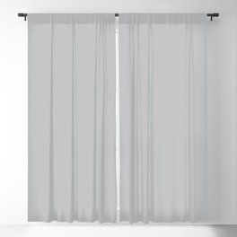 Stormy Grey - Light Neutral Mid Tone Gray Solid Color Blackout Curtain