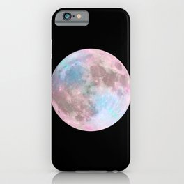 Iridescent Dark Moon iPhone Case