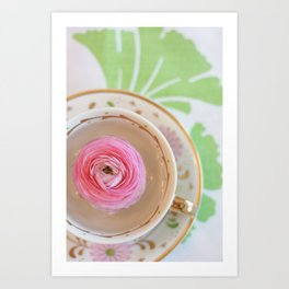 Teacup Flower Art Print