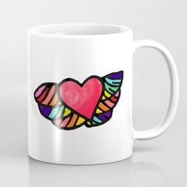 Rainbow Heart:. Coffee Mug