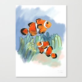 Clownfish for Sophie Canvas Print