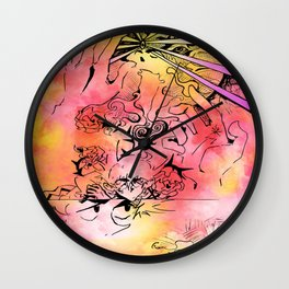 Every Shade of Red Exposed Wall Clock