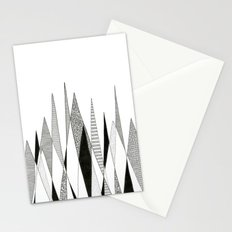 Spikes and Pines (pen on paper) Stationery Cards