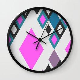 Bright happy diamonds Wall Clock