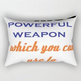 Educational quotation by nelson mandela Rectangular Pillow