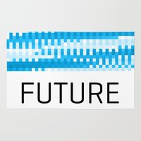 future Area & Throw Rugs featuring Future by Blank & Vøid
