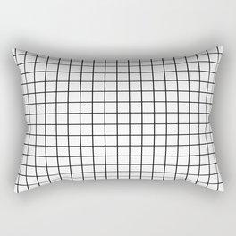 Emmy -- Black and White Grid, black and white, grid, monochrome, minimal grid design cell phone case Rectangular Pillow