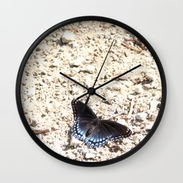 Color Among the Rubble Wall Clock