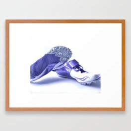 Run your heart out Framed Art Print