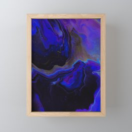 Dark Purple Blue Galaxy - Midnight Shades Framed Mini Art Print