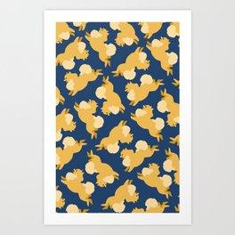 Precious Pomeranians Art Print