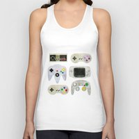 gamer Tank Tops featuring Gamer Nostalgia by discojellyfish