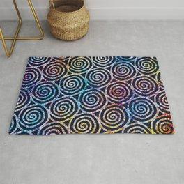 Spiral Tie Dye Batik Rug