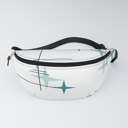 Mid Century Modern Stars (Teal) Fanny Pack