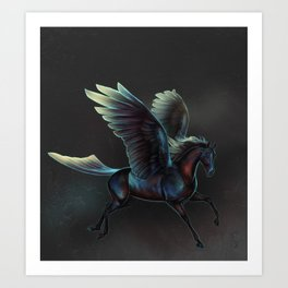 The colors of the pegasus Art Print