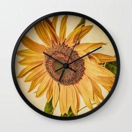 Vintage Sunflower Wall Clock