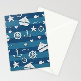 Nautical Nonsensical Stationery Cards