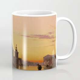 Venice Sunset at Santa Maria della Salute by Edwin William Cooke Coffee Mug
