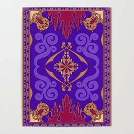 Aladdin Purple Magic Carpet Poster