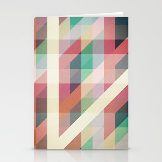 Abstract Geometric Lines Stationery Cards