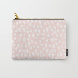 Hand drawn dots on pink- Mix&Match with Simplicty of life Carry-All Pouch