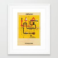 germany Framed Art Prints featuring Germany by federico babina