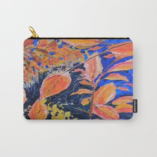 colored autumnleaves under the blue sky Carry-All Pouch
