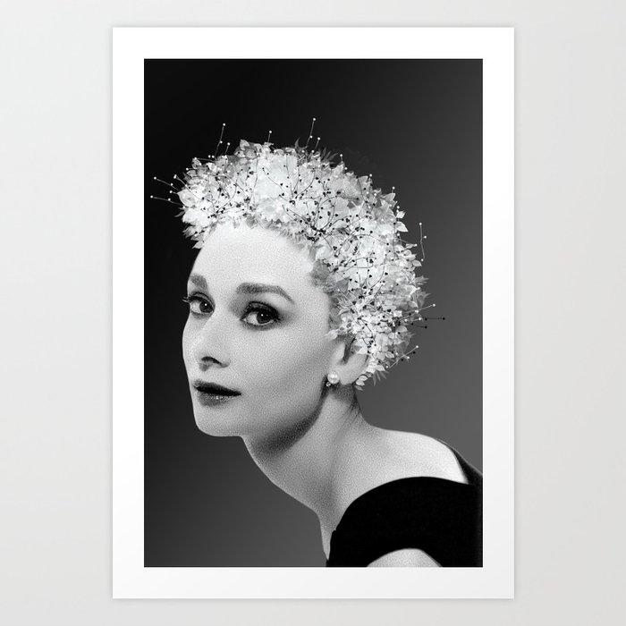 Audrey in Black Art Print