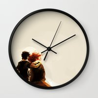 viria Wall Clocks featuring hey brother by viria