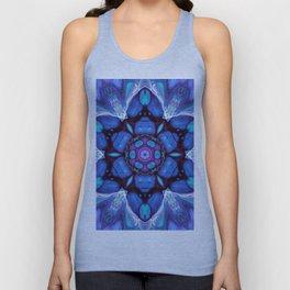 Digital Art Bue and Purple Kaleidoscope - Geometric Colorful Unisex Tank Top