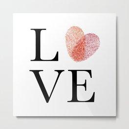 Love with fingerprint heart Metal Print